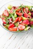 Ensalada sana de la fresa Imagen de archivo libre de regalías