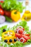 Ensalada sana de las verduras frescas del alimento Imagenes de archivo