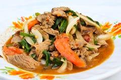 Ensalada tailandesa de la carne de vaca. Fotos de archivo libres de regalías