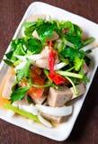 Ensalada tailandesa de la salchicha de cerdo Foto de archivo libre de regalías