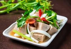 Ensalada tailandesa de la salchicha de cerdo Fotos de archivo libres de regalías