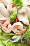 Ensalada tailandesa de los mariscos Foto de archivo libre de regalías
