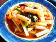 Ensalada tailandesa del loto de la raíz Imagen de archivo