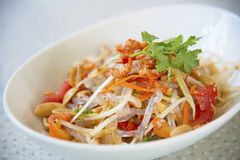 Ensalada tailandesa popular de la papaya fotografía de archivo