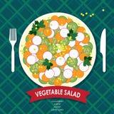 Ensalada vegetal libre illustration