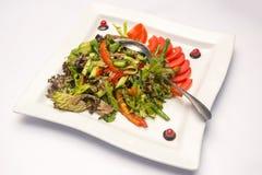 Ensalada vegetal con el espárrago Fotografía de archivo
