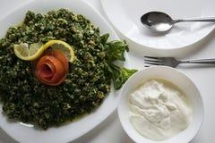 Ensalada vegetal de la cultura siria Foto de archivo