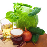 Ensalada vegetal, ingredientes Imagen de archivo libre de regalías