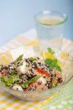 Ensalada vegetariana con el espárrago, lentejas, quinoa Imagen de archivo libre de regalías
