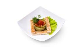 Ensalada vegetariana con los cuscurrones Foto de archivo libre de regalías