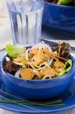 Ensalada vegetariana de la salchicha del queso de soja Imagen de archivo