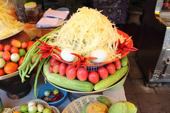 Ensalada verde de la papaya foto de archivo libre de regalías