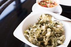 Ensalada verde de las hojas de té Imagen de archivo