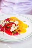 Ensalada y queso del tomate Imagen de archivo libre de regalías