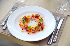 Ensalada y verduras del camarón Fotografía de archivo libre de regalías