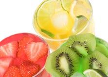 Ensaladas de fruta imagen de archivo libre de regalías