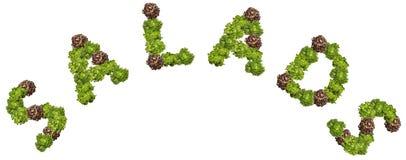 Ensaladas de la letra Imagen de archivo