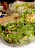 Ensaladas en el vector de comida fría Fotografía de archivo libre de regalías