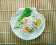Ensaladilla Rusa. Potato Salad Recipe - Ensaladilla Rusa with salmon . closeup of a plate Stock Photos