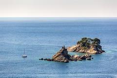 Ensam ö i Montenegro Arkivbilder