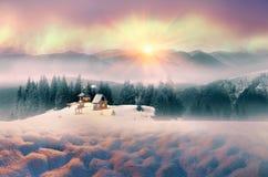 Ensam alpin kloster Royaltyfri Bild