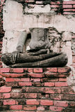 ensam buddha Arkivfoton