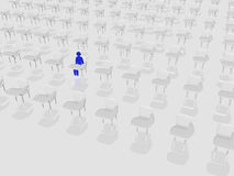 ensam deltagare för grupp Arkivbild