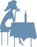 ensam drinkar Fotografering för Bildbyråer