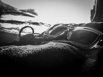 Ensam dykare Arkivfoto