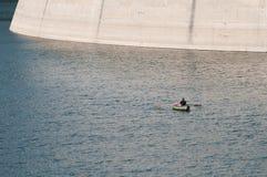 ensam fiskare Arkivfoton