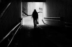 Ensam flicka Arkivbild
