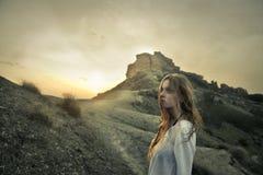 ensam flicka Fotografering för Bildbyråer