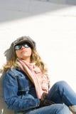 ensam flicka Royaltyfri Foto