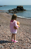ensam flicka little Arkivfoto