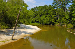 ensam flod arkivfoto