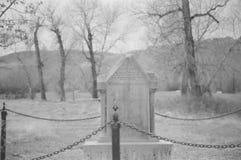 Ensam gravsten arkivfoto