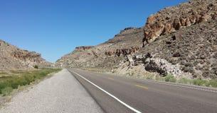 Ensam huvudväg Arkivfoto
