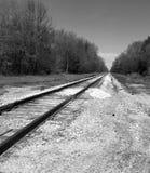 Ensam järnväg arkivfoto
