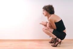 ensam kvinna Arkivfoton