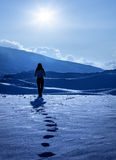 Ensam kvinna Royaltyfri Foto