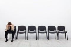 Ensam och desperat affärsman Arkivbilder