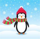 Ensam pingvin i snön Royaltyfri Bild