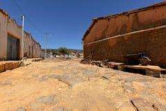 Ensam by Queixo Dantas i Caatingaen av Brasilien Arkivbild