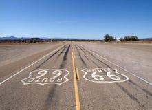 ensam route 66 Arkivfoto