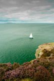 Ensam segelbåt Royaltyfria Foton