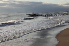 ensam sikt för strand Arkivbild