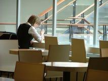 ensam sitting Fotografering för Bildbyråer