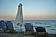 Ensam sjösida på Grekland arkivfoto