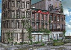 ensam stad Fotografering för Bildbyråer
