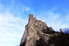ensam stand för slottbärare-hrad n Arkivfoto